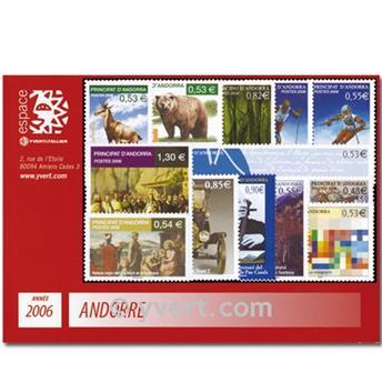 n.o 620 / 632 -  Sello Andorra Año completo (2006)
