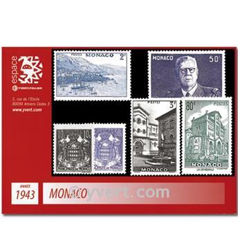n.o 249 / 264 -  Sello Mónaco Año completo (1943)