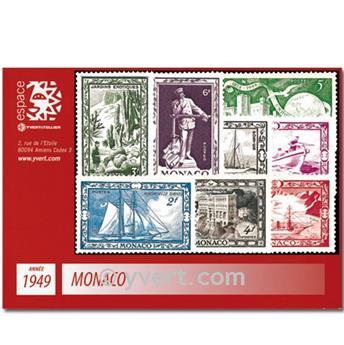 n° 324/337B -  Selo Mónaco Ano completo (1949)