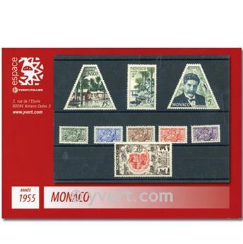 n.o 412 / 440 -  Sello Mónaco Año completo (1955)