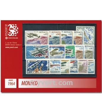 n.o 636 / 663 -  Sello Mónaco Año completo (1964)