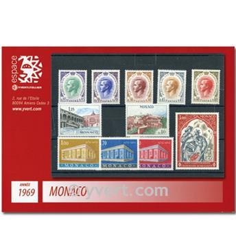 n.o 772 / 808 -  Sello Mónaco Año completo (1969)