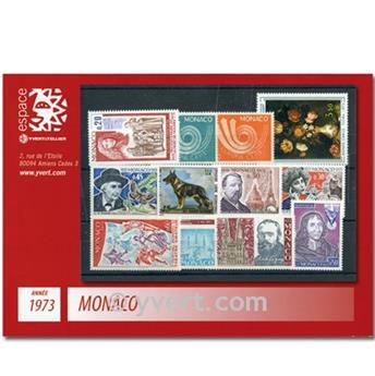n.o 916 / 952 -  Sello Mónaco Año completo (1973)