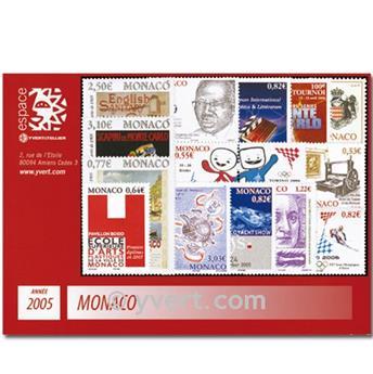 n° 2479/2527 -  Timbre Monaco Année complète (2005)