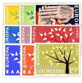 1962** - Année complète neuf EUROPA