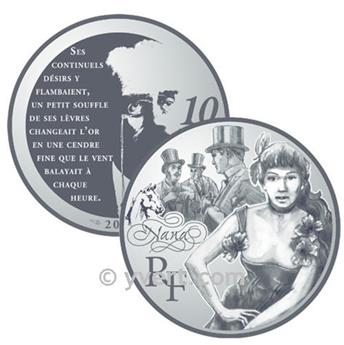 10 EUROS PLATA - FRANCIA - NANA