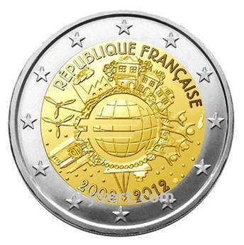 2 EURO COMMEMORATIVE 2012 : FRANCE (10e anniversaire de la mise en circulation des billets et des pièces en euros)