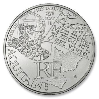 10€ DES REGIONS - Aquitaine - 2012