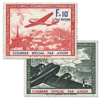 n.o 2 / 3 -  Sello Francia Legión de voluntarios franceses contra el bolchevismo