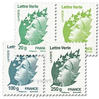 n.o 4593 / 4596 -  Sello Francia Correos
