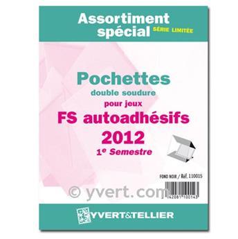 Selection of mounts (double welding): 2012-1st semester (SET SELF-ADHESIVES)Assortiment de pochettes (double soudure) : 2012-1er semestre (Jeux Autoadhésifs)Surtido de filoestuches (doble costura): 20