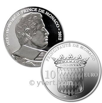 10 EUROS ARGENT - MONACO - HONORÉ II