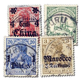 GERMAN COLONIES: envelope of 10 stamps