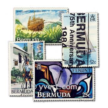 BERMUDA: envelope of 100 stamps