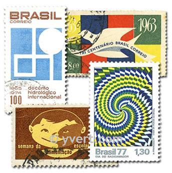 BRAZIL: envelope of 500 stamps