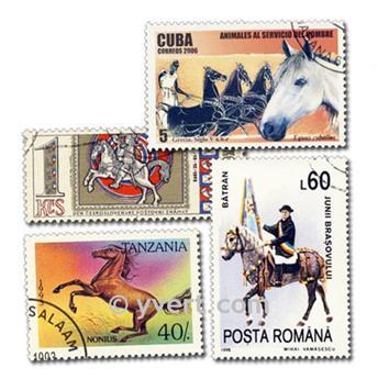 CHEVAUX : pochette de 800 timbres