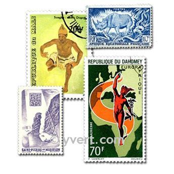 COLONIAS FRANCIA A. DE LA INDEPENDENCIA: lote de 200 sellos