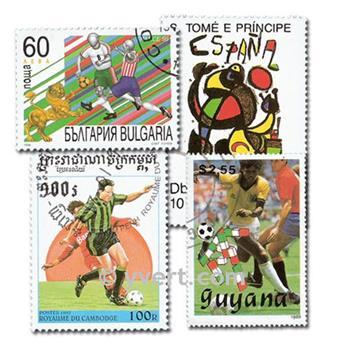 FOOTBALL : pochette de 600 timbres