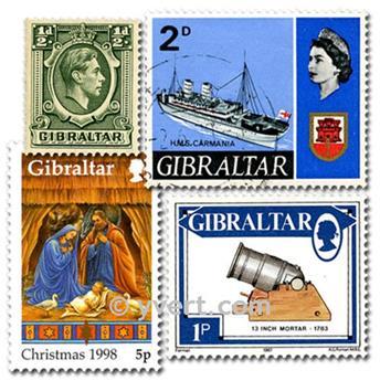 GIBRALTAR : pochette de 25 timbres