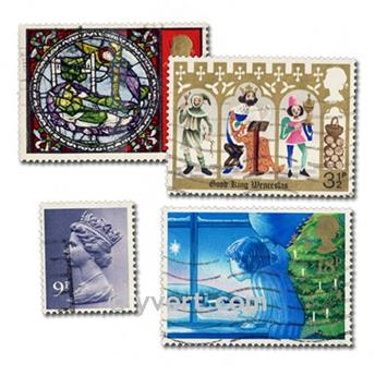 GREAT BRITAIN: envelope of 1000 stamps