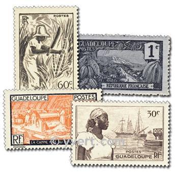 GUADALUPE: lote de 50 sellos