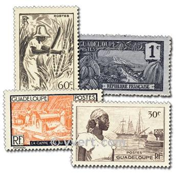 GUADELOUPE: envelope of 50 stamps