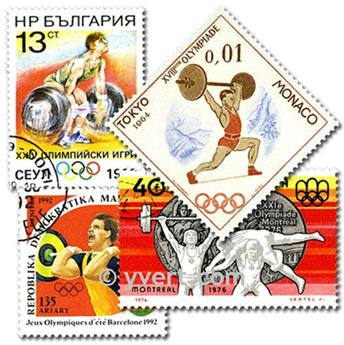 WEIGHTLIFTING: envelope of 25 stamps