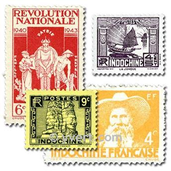 INDOCHINA : lote de 100 selos