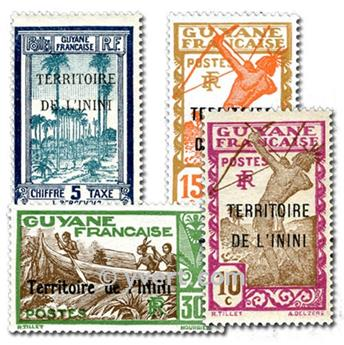 ININI: envelope of 10 stamps
