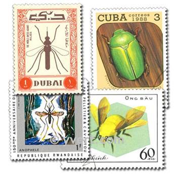 INSECTES : pochette de 200 timbres