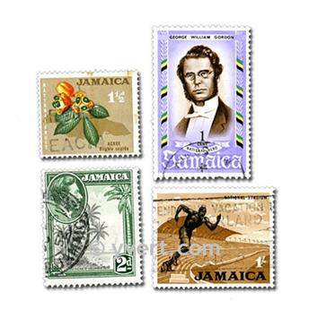 JAMAICA: envelope of 50 stamps