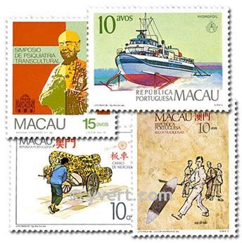 MACAO : pochette de 25 timbres