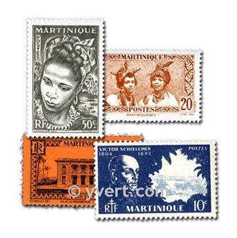 MARTINIQUE : pochette de 50 timbres