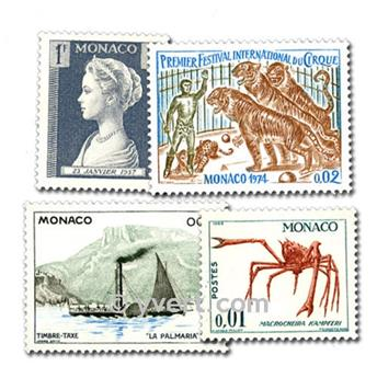 MONACO: envelope of 500 stamps