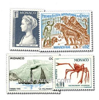 MONACO : pochette de 500 timbres