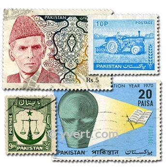 PAKISTAN : pochette de 200 timbres