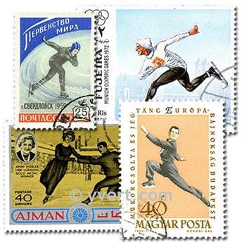 PATINAGE : pochette de 50 timbres