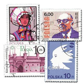 POLAND: envelope of 1500 stamps