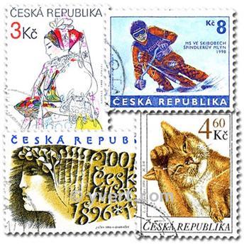 REPUBLIQUE TCHEQUE : pochette de 100 timbres