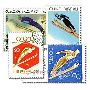 SKI : Pochette de 100 timbres