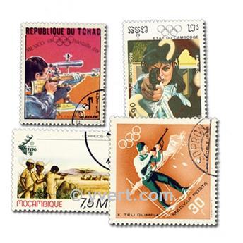 TIRO CON ARCO: lote de 25 sellos