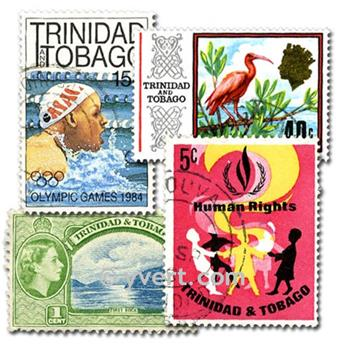 TRINIDAD AND TOBAGO: envelope of 100 stamps