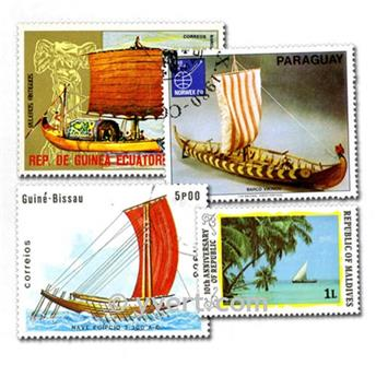 SAILING BOATS: envelope of 100 stamps