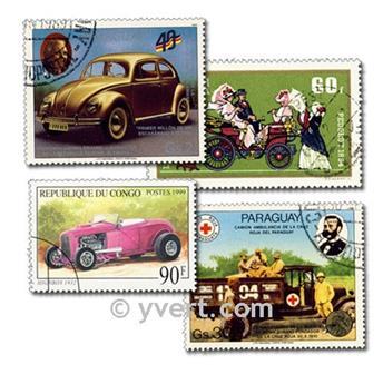 VOITURES : pochette de 500 timbres
