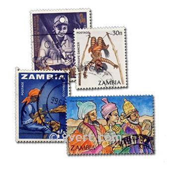 ZAMBIE : Pochette de 50 timbres