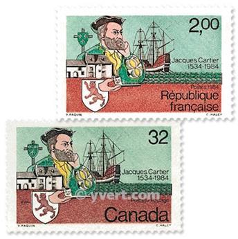 1984 - Emisiones comunes - Francia - Canadá (Fundas)