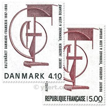 1988 - Emisiones comunes - Francia - Dinamarca