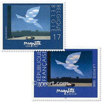 1998 - Emisiones comunes - Francia - Bélgica (Fundas)