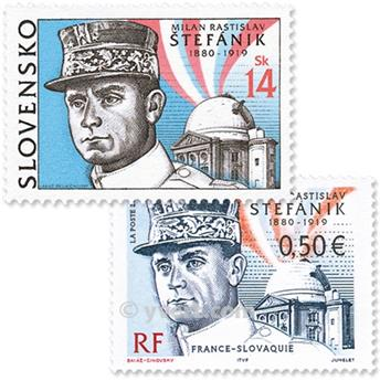 2003 - Joint issue-France-Slovakia-(mounts)