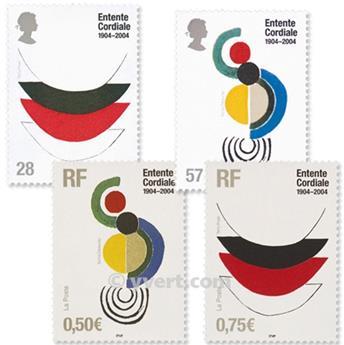 2004 - Emisiones comunes - Francia - Gran Bretaña (Fundas)